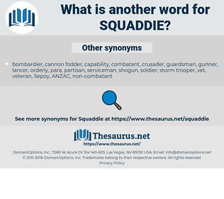 squaddie, synonym squaddie, another word for squaddie, words like squaddie, thesaurus squaddie