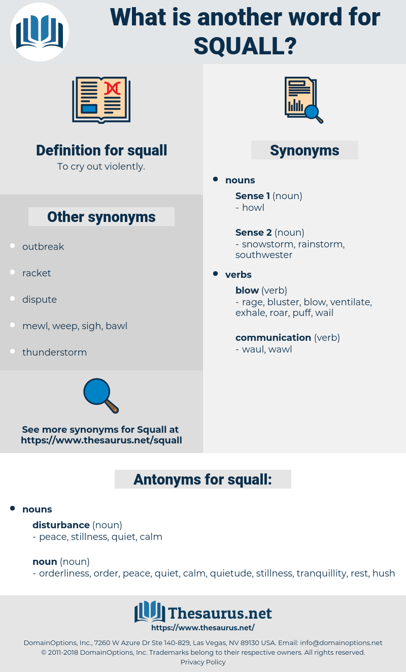 squall, synonym squall, another word for squall, words like squall, thesaurus squall