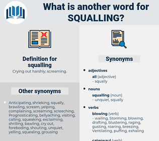squalling, synonym squalling, another word for squalling, words like squalling, thesaurus squalling