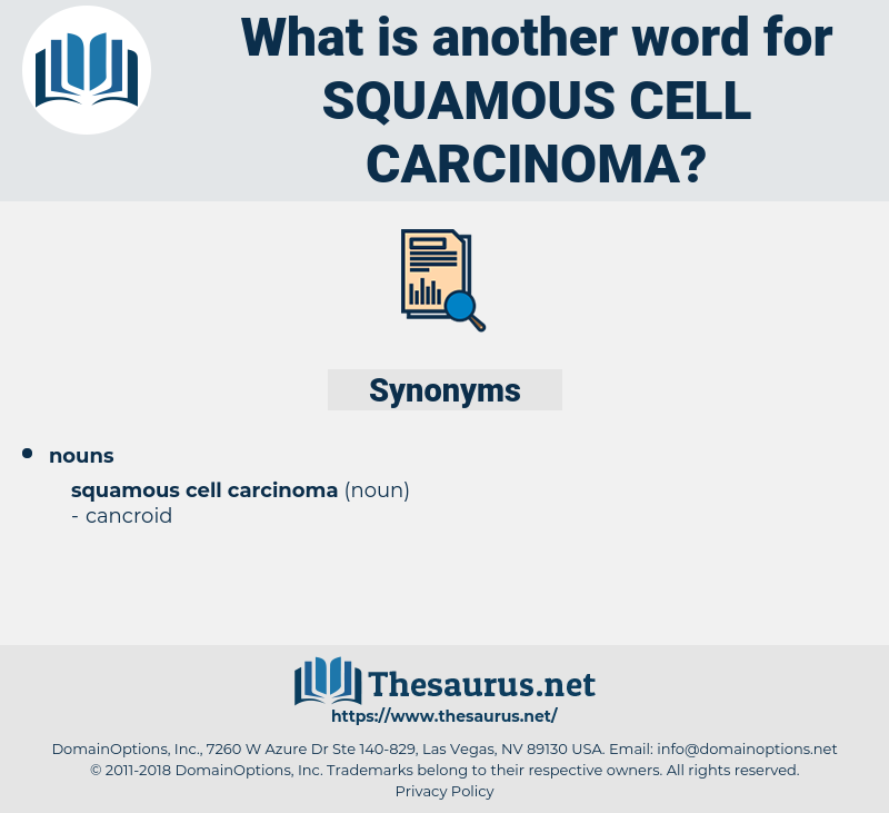 squamous cell carcinoma, synonym squamous cell carcinoma, another word for squamous cell carcinoma, words like squamous cell carcinoma, thesaurus squamous cell carcinoma