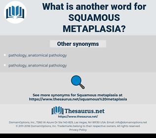 squamous metaplasia, synonym squamous metaplasia, another word for squamous metaplasia, words like squamous metaplasia, thesaurus squamous metaplasia
