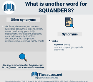 squanders, synonym squanders, another word for squanders, words like squanders, thesaurus squanders