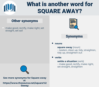 square away, synonym square away, another word for square away, words like square away, thesaurus square away
