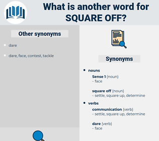 square off, synonym square off, another word for square off, words like square off, thesaurus square off
