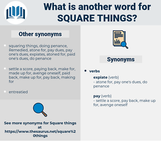 square things, synonym square things, another word for square things, words like square things, thesaurus square things