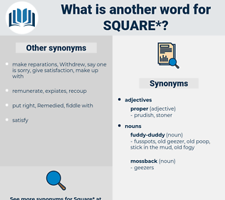 square, synonym square, another word for square, words like square, thesaurus square