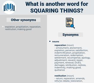 squaring things, synonym squaring things, another word for squaring things, words like squaring things, thesaurus squaring things