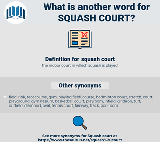 squash court, synonym squash court, another word for squash court, words like squash court, thesaurus squash court