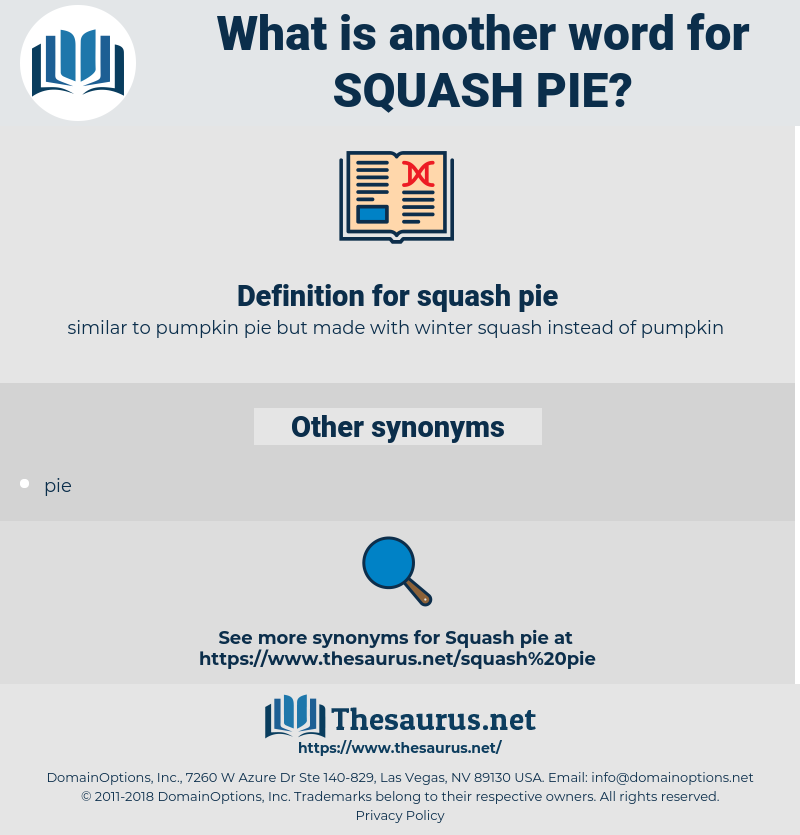 squash pie, synonym squash pie, another word for squash pie, words like squash pie, thesaurus squash pie