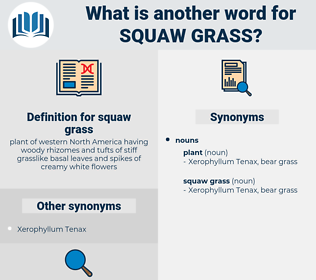squaw grass, synonym squaw grass, another word for squaw grass, words like squaw grass, thesaurus squaw grass