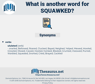 Squawked, synonym Squawked, another word for Squawked, words like Squawked, thesaurus Squawked