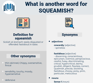 squeamish, synonym squeamish, another word for squeamish, words like squeamish, thesaurus squeamish