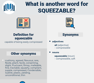 squeezable, synonym squeezable, another word for squeezable, words like squeezable, thesaurus squeezable