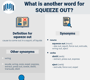 squeeze out, synonym squeeze out, another word for squeeze out, words like squeeze out, thesaurus squeeze out
