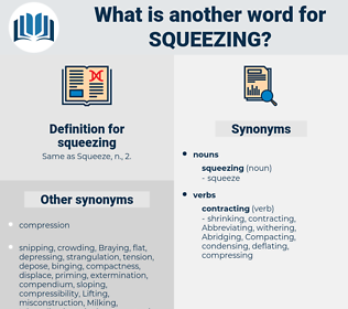 squeezing, synonym squeezing, another word for squeezing, words like squeezing, thesaurus squeezing