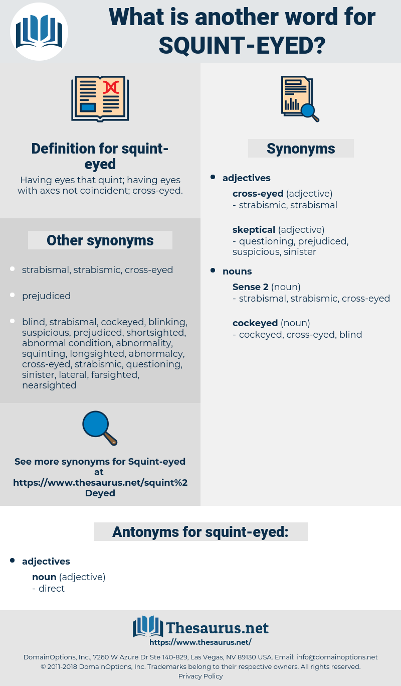 squint-eyed, synonym squint-eyed, another word for squint-eyed, words like squint-eyed, thesaurus squint-eyed