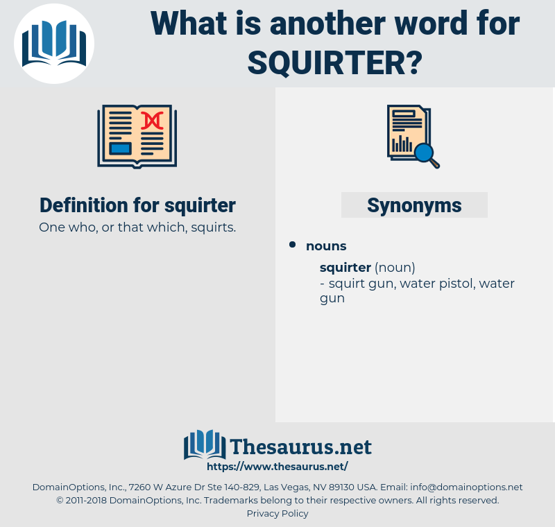 squirter, synonym squirter, another word for squirter, words like squirter, thesaurus squirter