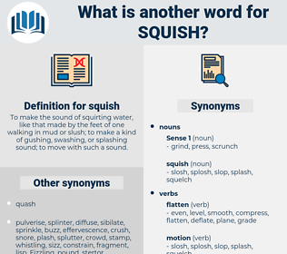 squish, synonym squish, another word for squish, words like squish, thesaurus squish