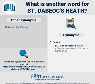 St. Dabeoc's Heath, synonym St. Dabeoc's Heath, another word for St. Dabeoc's Heath, words like St. Dabeoc's Heath, thesaurus St. Dabeoc's Heath