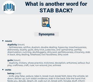 stab back, synonym stab back, another word for stab back, words like stab back, thesaurus stab back