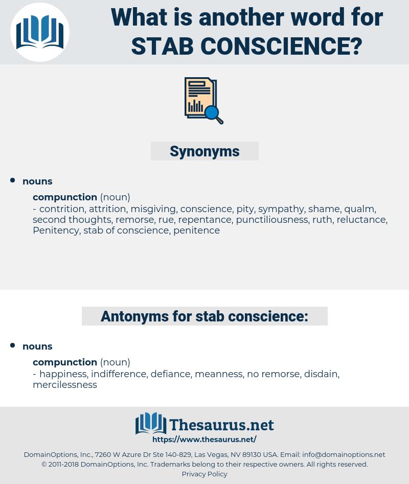 stab conscience, synonym stab conscience, another word for stab conscience, words like stab conscience, thesaurus stab conscience