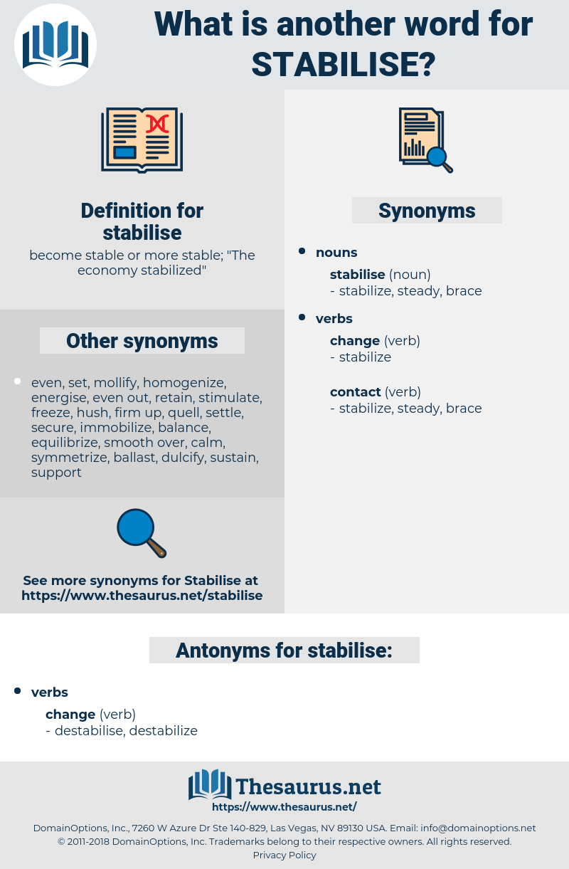 stabilise, synonym stabilise, another word for stabilise, words like stabilise, thesaurus stabilise
