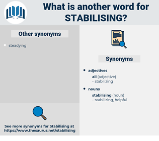 stabilising, synonym stabilising, another word for stabilising, words like stabilising, thesaurus stabilising