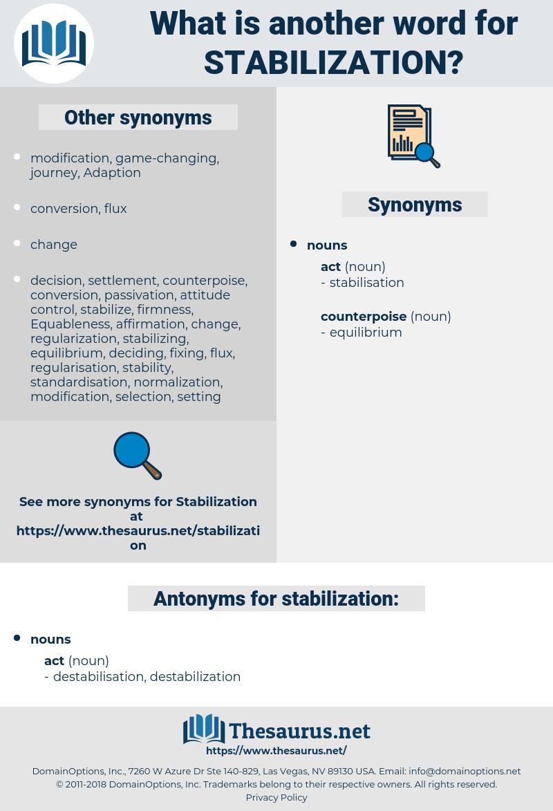 stabilization, synonym stabilization, another word for stabilization, words like stabilization, thesaurus stabilization