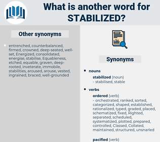 stabilized, synonym stabilized, another word for stabilized, words like stabilized, thesaurus stabilized