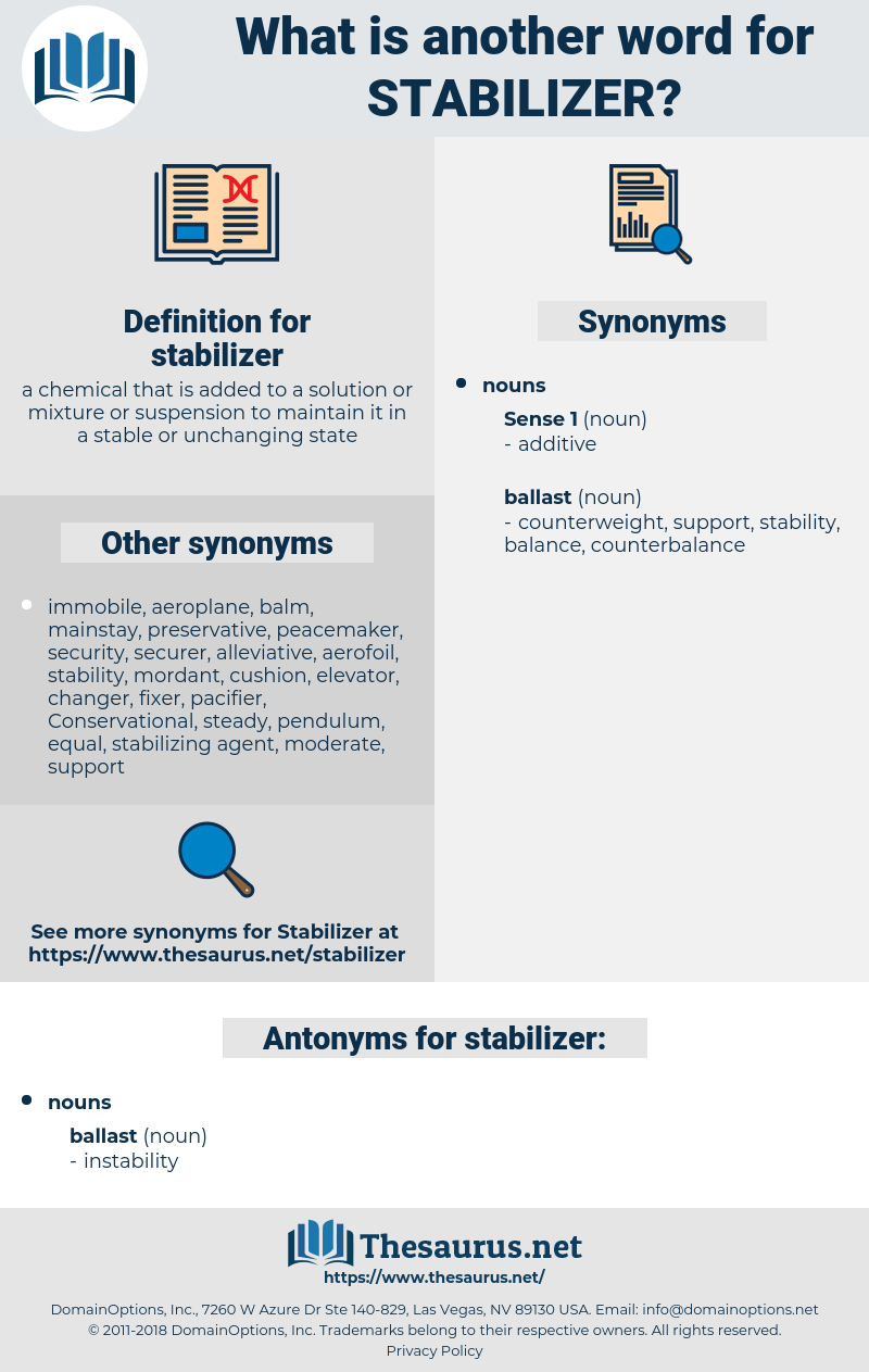 stabilizer, synonym stabilizer, another word for stabilizer, words like stabilizer, thesaurus stabilizer