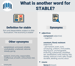 stable, synonym stable, another word for stable, words like stable, thesaurus stable