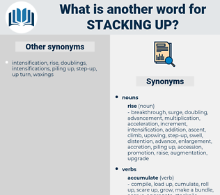 stacking up, synonym stacking up, another word for stacking up, words like stacking up, thesaurus stacking up