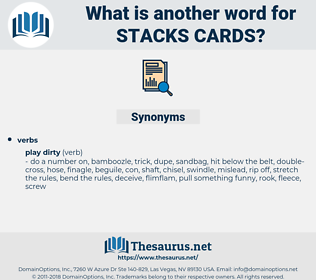 stacks cards, synonym stacks cards, another word for stacks cards, words like stacks cards, thesaurus stacks cards