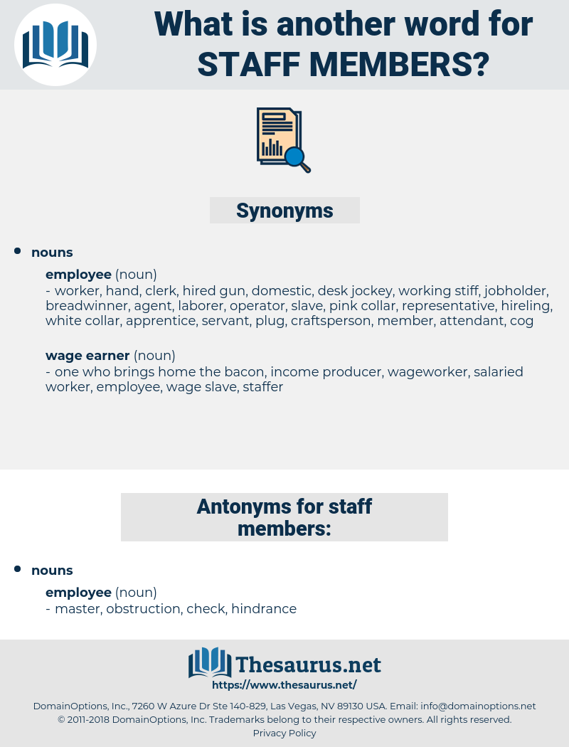 staff members, synonym staff members, another word for staff members, words like staff members, thesaurus staff members