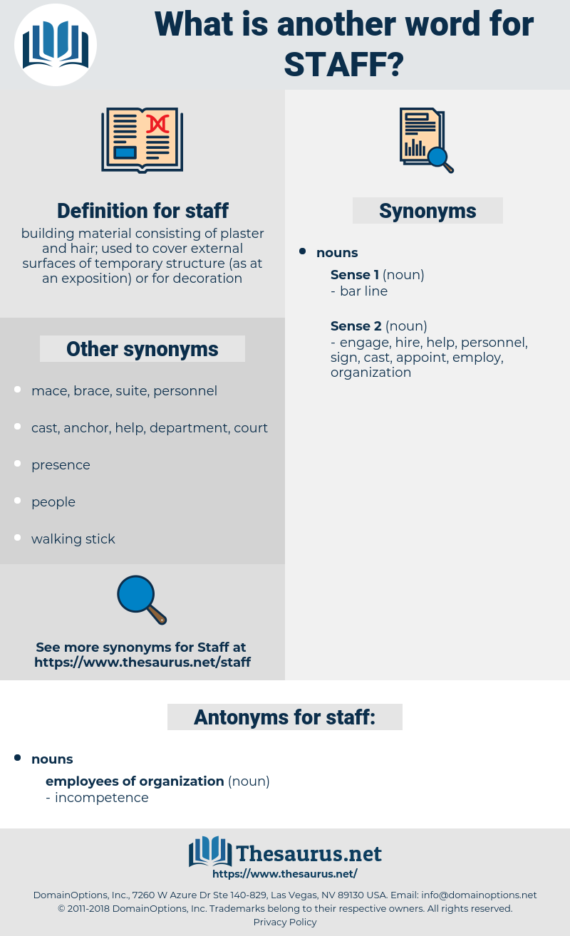 staff, synonym staff, another word for staff, words like staff, thesaurus staff