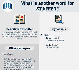 staffer, synonym staffer, another word for staffer, words like staffer, thesaurus staffer