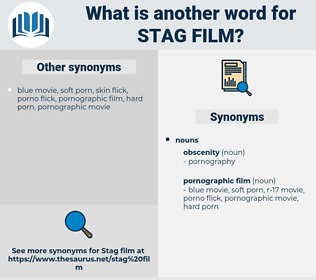 stag film, synonym stag film, another word for stag film, words like stag film, thesaurus stag film