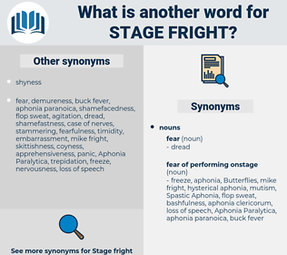 stage fright, synonym stage fright, another word for stage fright, words like stage fright, thesaurus stage fright