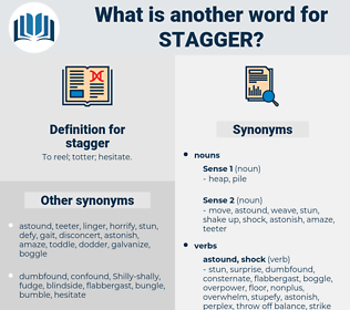 stagger, synonym stagger, another word for stagger, words like stagger, thesaurus stagger
