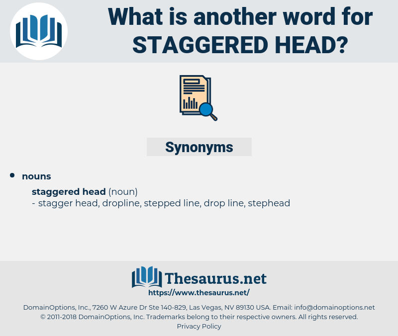 staggered head, synonym staggered head, another word for staggered head, words like staggered head, thesaurus staggered head