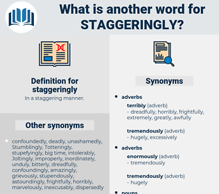 staggeringly, synonym staggeringly, another word for staggeringly, words like staggeringly, thesaurus staggeringly