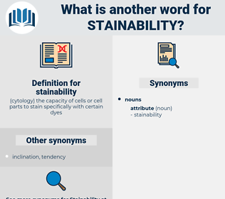 stainability, synonym stainability, another word for stainability, words like stainability, thesaurus stainability