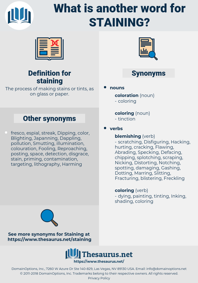 staining, synonym staining, another word for staining, words like staining, thesaurus staining