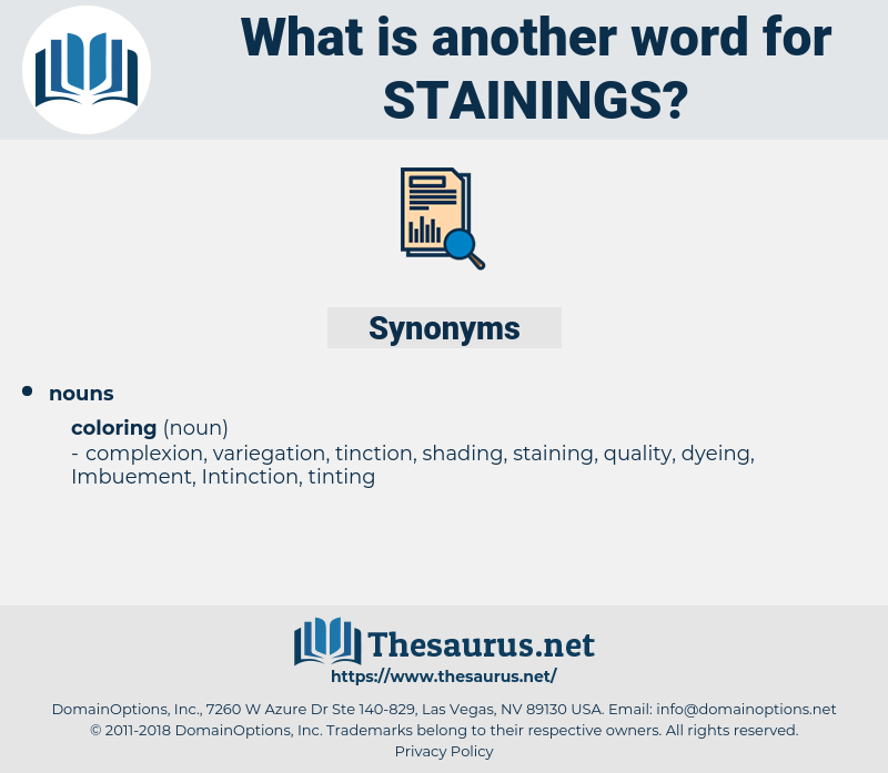Stainings, synonym Stainings, another word for Stainings, words like Stainings, thesaurus Stainings