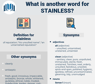 stainless, synonym stainless, another word for stainless, words like stainless, thesaurus stainless