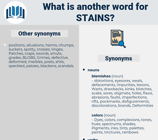 Stains, synonym Stains, another word for Stains, words like Stains, thesaurus Stains