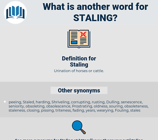 Staling, synonym Staling, another word for Staling, words like Staling, thesaurus Staling