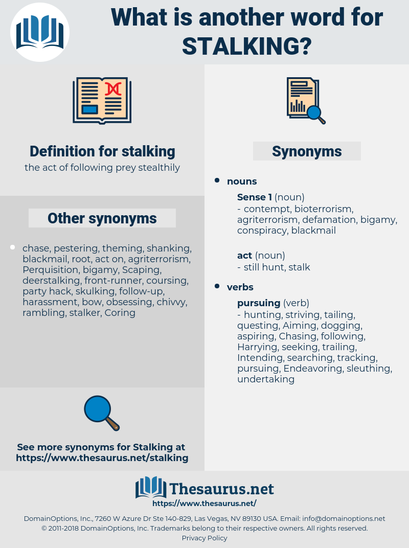 synonyms for stalking - thesaurus