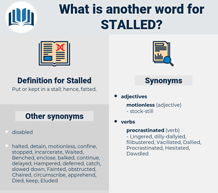 Stalled, synonym Stalled, another word for Stalled, words like Stalled, thesaurus Stalled