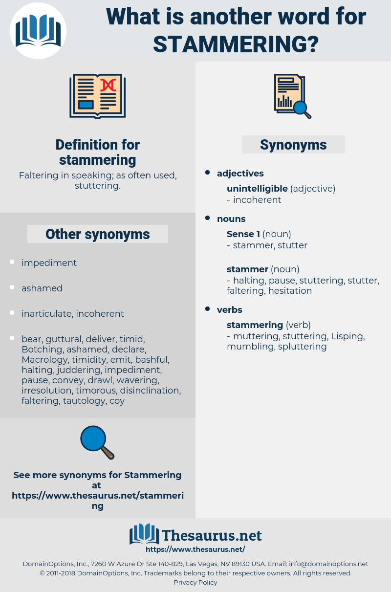 stammering, synonym stammering, another word for stammering, words like stammering, thesaurus stammering